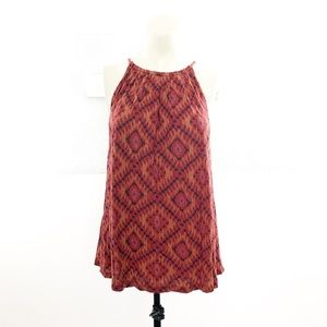 Lucky Brand Ikat Print Sleeveless Top Size Large